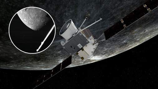 Станция BepiColombo передала на Землю первый снимок поверхности Меркурия
