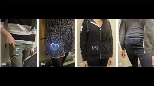 Представлено технологию, которая превращает в дисплей любой вашу одежду