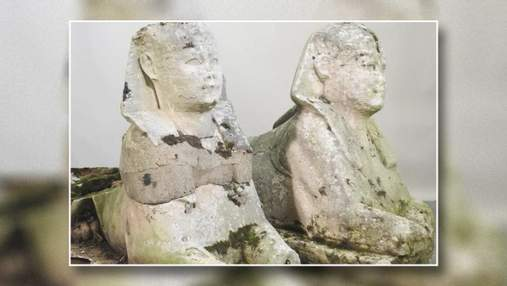 Заброшенные садовые скульптуры за 200 фунтов оказались древними египетскими сфинксами