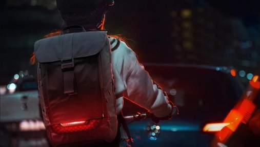 Torch для велосипедистов: рюкзак с указателями поворота