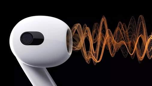 AirPods 3: Apple представила нову версію популярних навушників