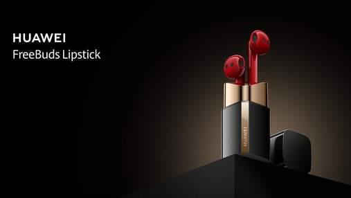 FreeBuds Lipstick: Huawei представила навушники, схожі на губну помаду