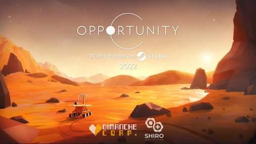 Космічна пригода Opportunity: історію відважного ровера NASA розкажуть у комп'ютерній грі