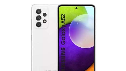 З'явилися повні характеристики і фото Samsung Galaxy A52
